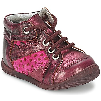 Shoes Girl Mid boots Catimini CABILLAUD Pink / Brown