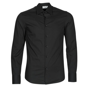 material Men long-sleeved shirts Casual Attitude MILE Black