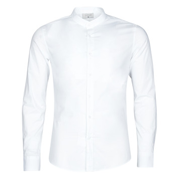 material Men long-sleeved shirts Casual Attitude MASS White