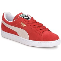 Shoes Men Low top trainers Puma SUEDE CLASSIC + Red / White