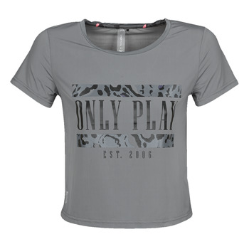 material Women short-sleeved t-shirts Only Play  Grey