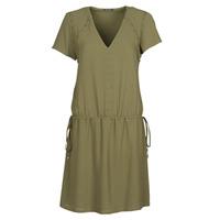 material Women Short Dresses Ikks BR30015 Kaki