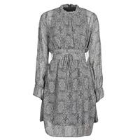 material Women Short Dresses Ikks BR30165 Grey