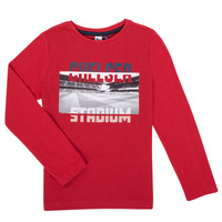 material Boy Long sleeved shirts 3 Pommes 3R10015-37-J Red
