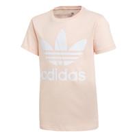 material Girl short-sleeved t-shirts adidas Originals TREFOIL TEE Pink