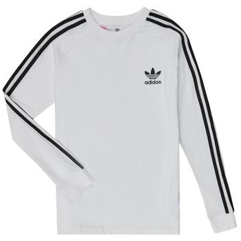 material Boy Long sleeved shirts adidas Originals 3STRIPES LS White