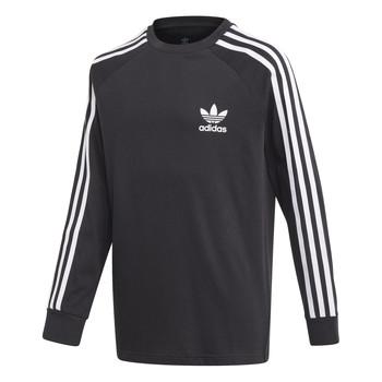 material Boy Long sleeved shirts adidas Originals 3STRIPES LS Black