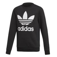 material Children sweaters adidas Originals TREFOIL CREW Black