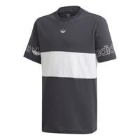 material Boy short-sleeved t-shirts adidas Originals PANEL TEE Grey / White