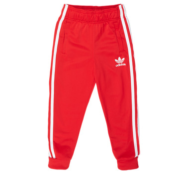 material Children Tracksuit bottoms adidas Originals SST TRACKPANT Red