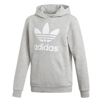 material Boy sweaters adidas Originals TREFOIL HOODIE Grey