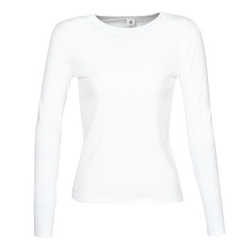 material Women Long sleeved shirts Petit Bateau 53409 White