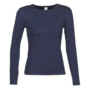 material Women Long sleeved shirts Petit Bateau 53409 Marine