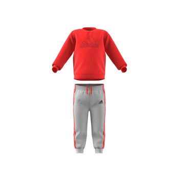 material Children Sets & Outfits adidas Performance MH LOG JOG FL Red / Grey