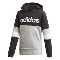 material Boy sweaters adidas Performance YB LIN CB HD FL Black / Grey