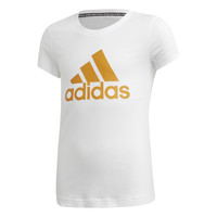 material Girl short-sleeved t-shirts adidas Performance YG MH BOS TEE White