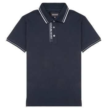 material Boy short-sleeved polo shirts Emporio Armani 6H4F79-1JRNZ-0920 Marine