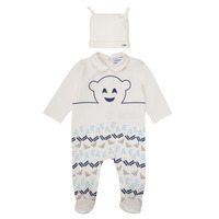 material Boy Sleepsuits Emporio Armani 6HHV08-4J3IZ-0101 White / Blue