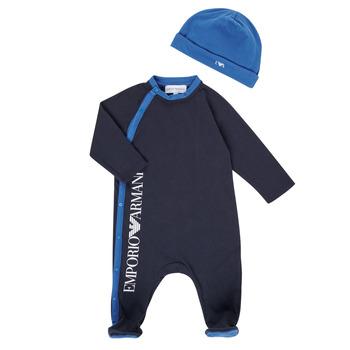 material Boy Sleepsuits Emporio Armani 6HHV12-4J3CZ-0922 Marine