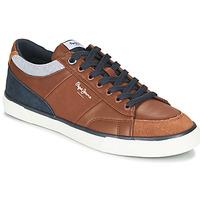 Shoes Men Low top trainers Pepe jeans KENTON SPORT Brown