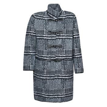 material Women coats Derhy SAISON Grey / Black