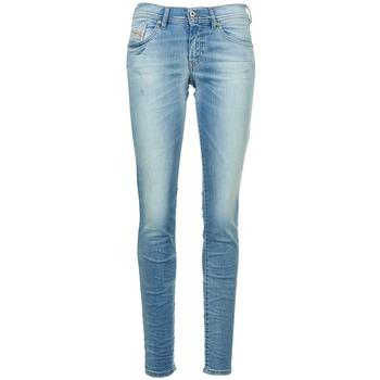 material Women slim jeans Diesel FRANCY Blue / Clear