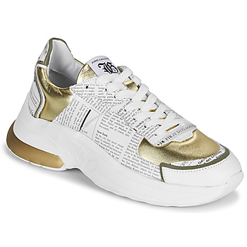 Shoes Women Low top trainers John Galliano 3646 White / Gold