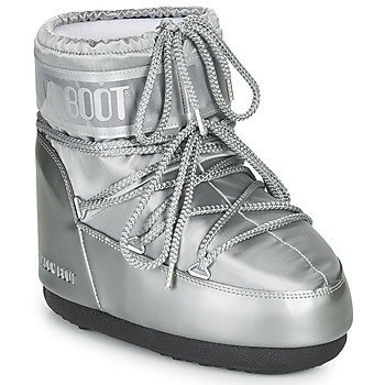 Shoes Women Snow boots Moon Boot MOON BOOT CLASSIC LOW GLANCE Silver