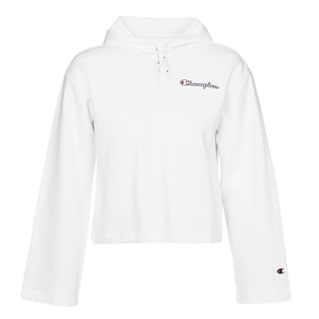 material Women sweaters Champion HEAVY COMBED COTTON FLEECE White