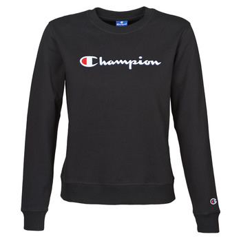 material Women sweaters Champion HEAVY COMBED COTTON FLEECE Black