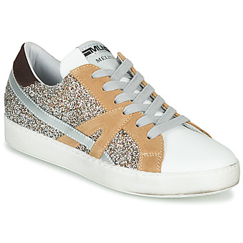 Shoes Women Low top trainers Meline IN1344 White / Beige / Gold