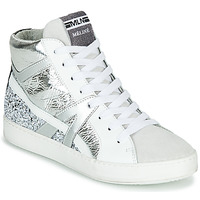Shoes Women High top trainers Meline  White / Silver
