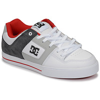Shoes Men Low top trainers DC Shoes PURE White / Grey / Red