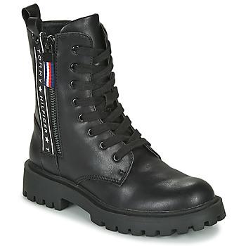 Shoes Children Mid boots Tommy Hilfiger  Black