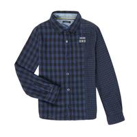 material Boy long-sleeved shirts Ikks XR12123 Blue