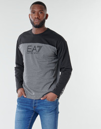 material Men Long sleeved shirts Emporio Armani EA7 TRAINING URBAN COLORBLOCK M TEE LS Grey / Black