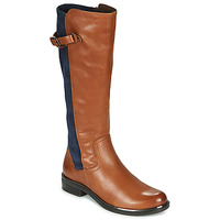 Shoes Women Boots Caprice 25504-387 Cognac / Blue