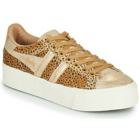 Shoes Women Low top trainers Gola ORCHID PLATEFORM SAVANNA Gold / Cheetah