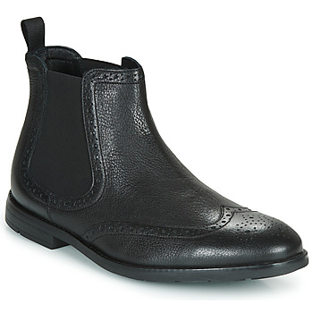 Shoes Men Mid boots Clarks RONNIE TOP Black