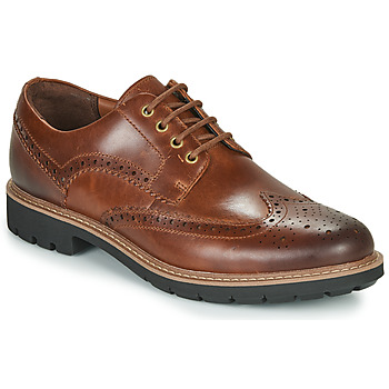 Shoes Men Derby shoes Clarks BATCOMBE WING Camel