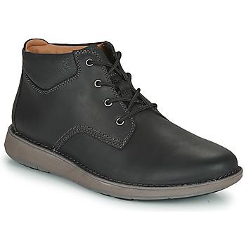 Shoes Men Derby shoes Clarks UN LARVIK TOP2 Black