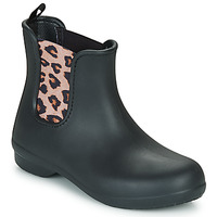 Shoes Women Mid boots Crocs CROCS FREESAIL CHELSEA BOOT W Black / Leopard