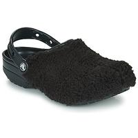 Shoes Clogs Crocs CLASSIC FUZZ MANIA CLOG Black