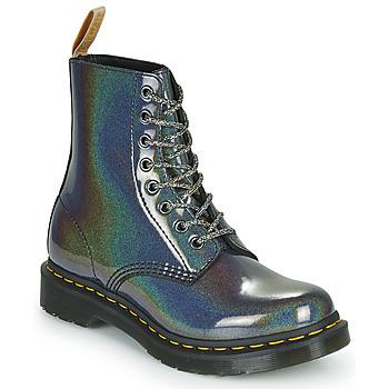 Shoes Women Mid boots Dr Martens VEGAN 1460 PASCAL Silver