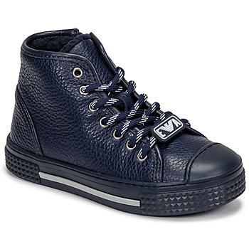 Shoes Children High top trainers Emporio Armani XYZ004-XOI25 Marine