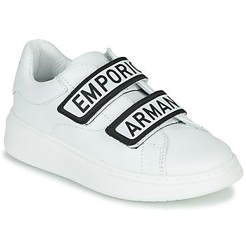 Shoes Children Low top trainers Emporio Armani XYX007-XCC70 White / Black