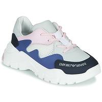 Shoes Boy Low top trainers Emporio Armani XYX008-XOI34 White / Blue