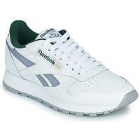 Shoes Low top trainers Reebok Classic CL LTHR White / Grey