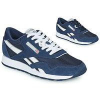 Shoes Low top trainers Reebok Classic CL NYLON Marine / White