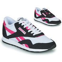 Shoes Women Low top trainers Reebok Classic CL NYLON Marine / Pink